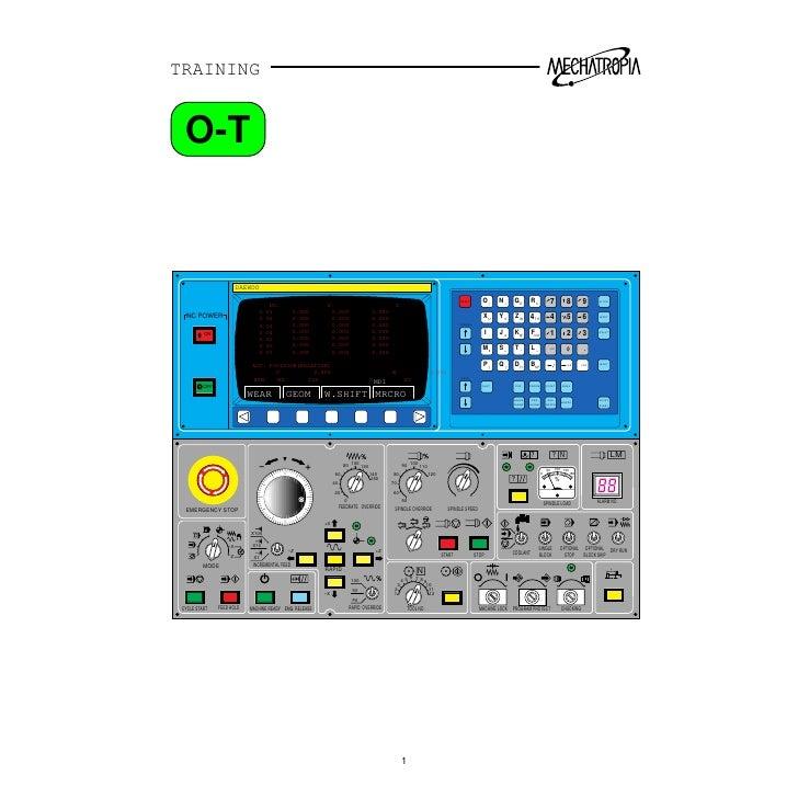 fanuc ot cnc training manual rh slideshare net Combination CNC Lathes Haas Lathe Operator Manual