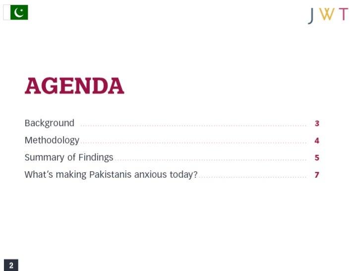 JWT AnxietyIndex: Pakistan (August 2011) Slide 2
