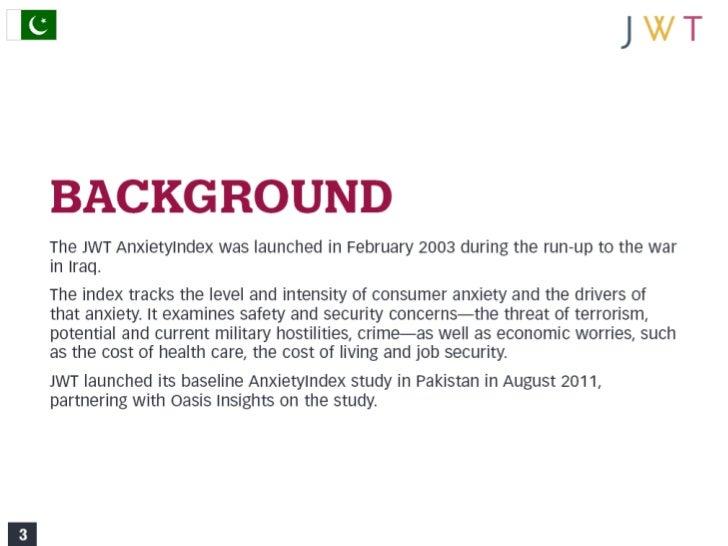 JWT AnxietyIndex: Pakistan (August 2011) Slide 3