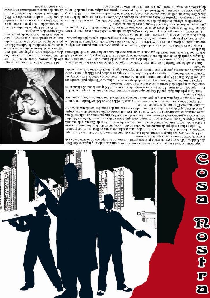 """Alphonsus Gabriel Capone , considerados por muitos como um dos maiores gângsteres dos Esta-  dos Unidos. """"Al"""", como era ch..."""