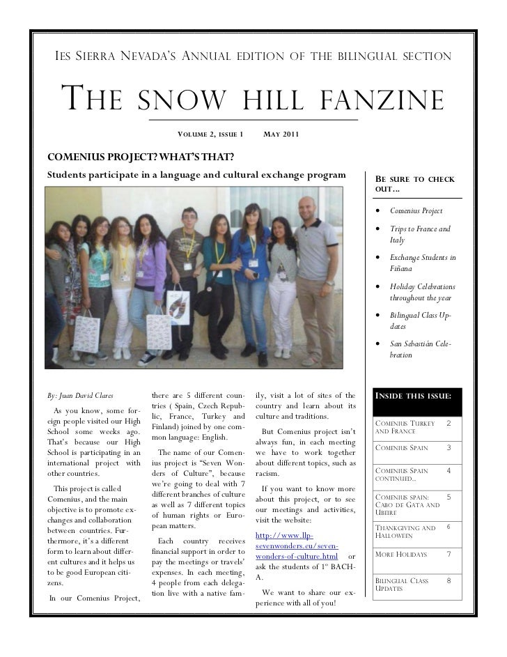 I ES S IERRA N EVADA ' S A NNUAL                        EDITION OF THE BILINGUAL SECTION    T HE SNOW HILL FANZINE        ...