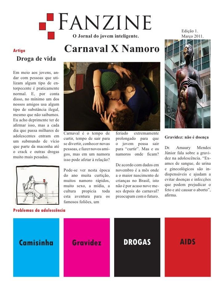 Fanzine   O Jornal do jovem inteligente.                                                                                  ...