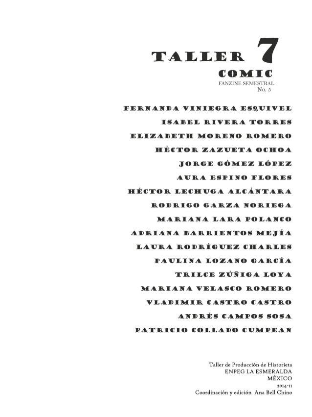 Fanzine taller 7 no. 5 enpeg la esmeralda Slide 3