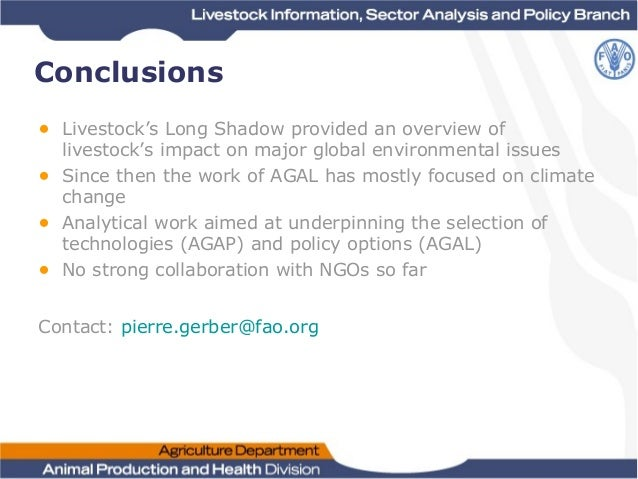 Livestock's long shadow environmental issues and options citation