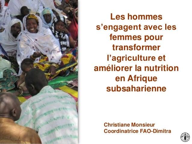 Les hommes s'engagent avec les femmes pour transformer l'agriculture et améliorer la nutrition en Afrique subsaharienne Ch...