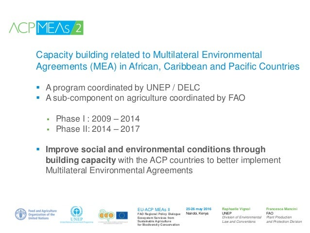 Project Capacity Building Related To Multilateral Environmental Agre