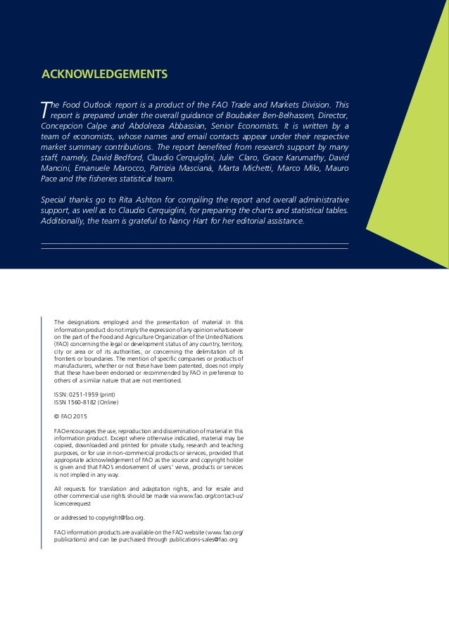 FAO Food Outlook May 2015 Slide 2