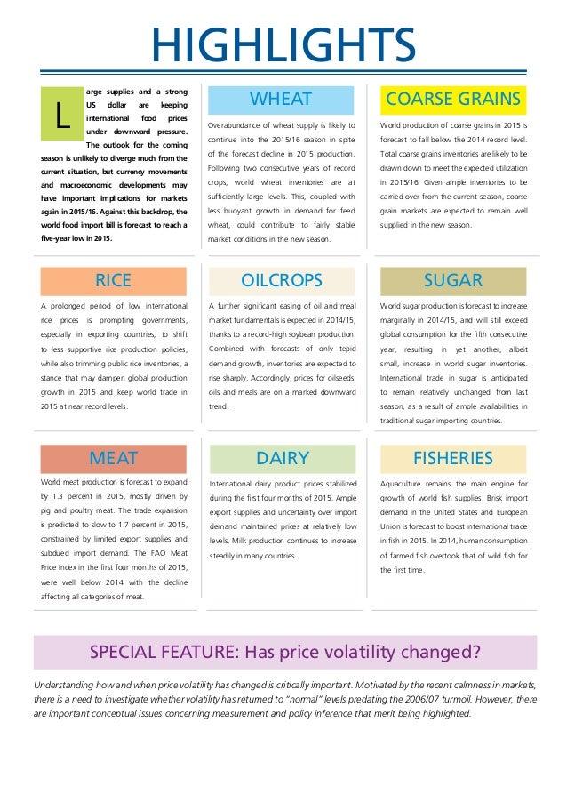 FAO Food Outlook May 2015 Slide 3