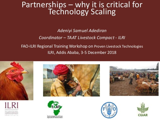 Adeniyi Samuel Adediran Coordinator – TAAT Livestock Compact - ILRI FAO-ILRI Regional Training Workshop on Proven Livestoc...