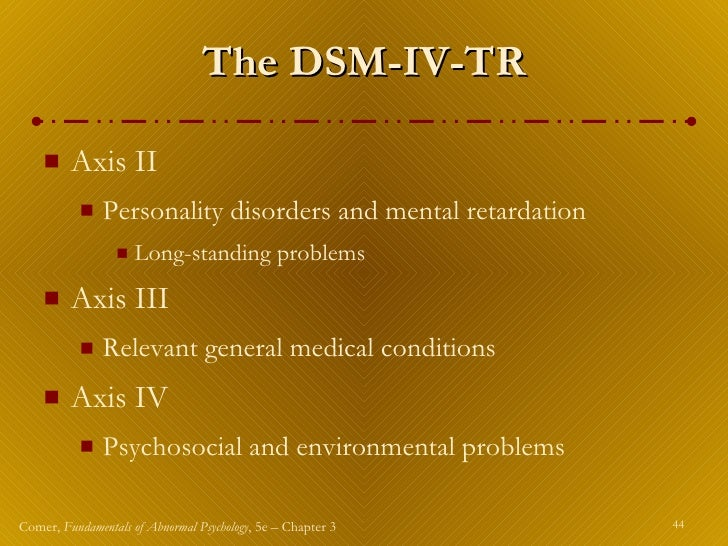 define the major dsm iv tr categories of anxiety somatoform and dissociative disorders Definition and etiology anxiety is a natural response and text revision (dsm iv-tr), anxiety disorders include generalized anxiety disorder by other psychiatric disorders up to 60% of sufferers of gad have a comorbid condition panic disorder and major depressive disorder.