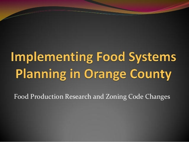 Food Production Research and Zoning Code Changes