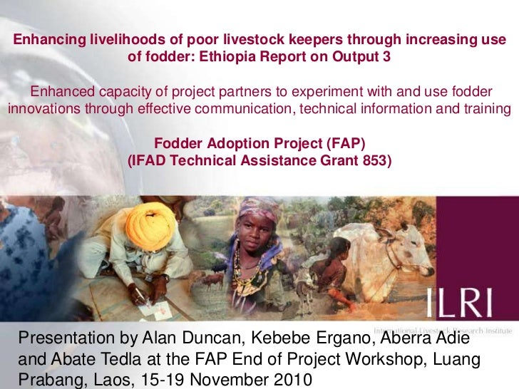 Enhancing livelihoods of poor livestock keepers through increasing use of fodder: Ethiopia Report on Output 3 Enhanced cap...