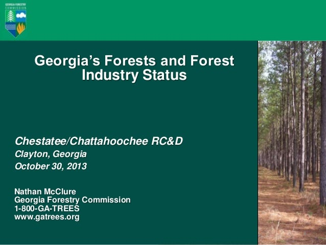 Forestry in Georgia: Industry and Resources Georgia's Forests and Forest Industry Status  Chestatee/Chattahoochee RC&D Cla...