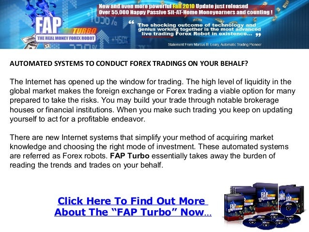 """Click Here To Find Out More About The """"FAP Turbo"""" Now… AUTOMATED SYSTEMS TO CONDUCT FOREX TRADINGS ON YOUR BEHALF? The Int..."""