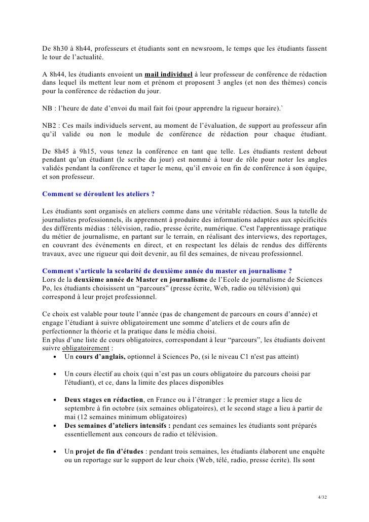 Faq enseignants 2012 2013 ecole de journalisme de for Redaction sur le respect