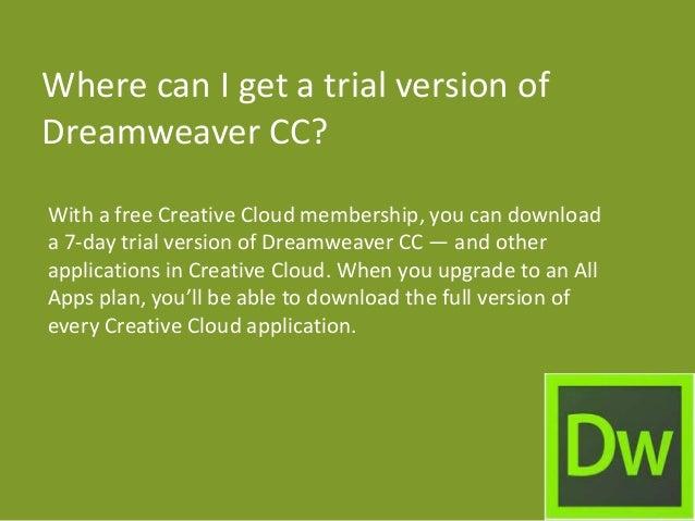 dreamweaver cc free download full version for windows 7 32 bit