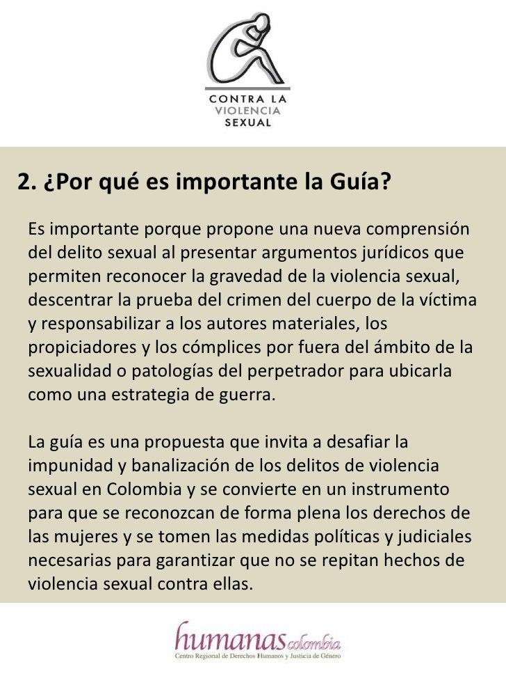 Faq Guia Para Llevar Casos De Violencia Sexual Slide 3