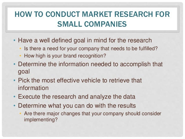 Small business tips: How to do market research