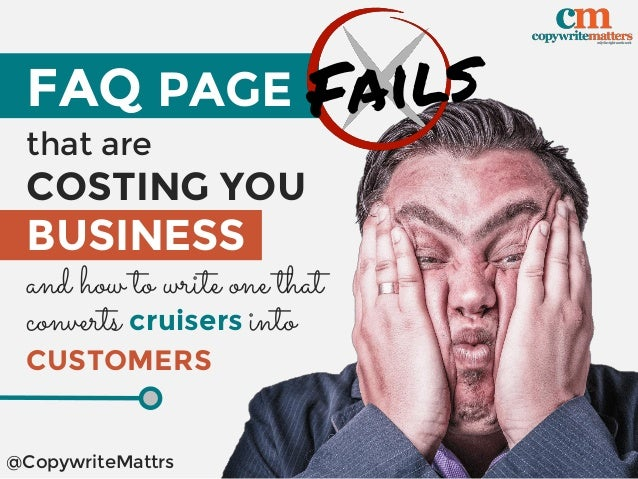 FAQ PAGE that are COSTING YOU BUSINESS and how to write one that @CopywriteMattrs converts cruisers into CUSTOMERS
