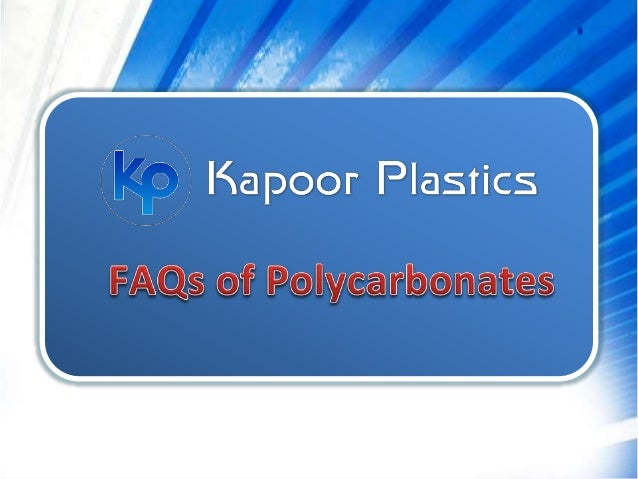 Polycarbonates are polymerized carbonate based thermoplastics. It is quite tough, strong and durable in nature. It can wit...