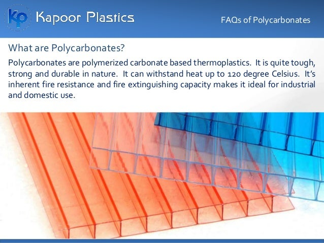 Polycarbonate sheet manufacturers mould it in shape of sheets using thermo- moulding technique. The sheets vary in thickne...