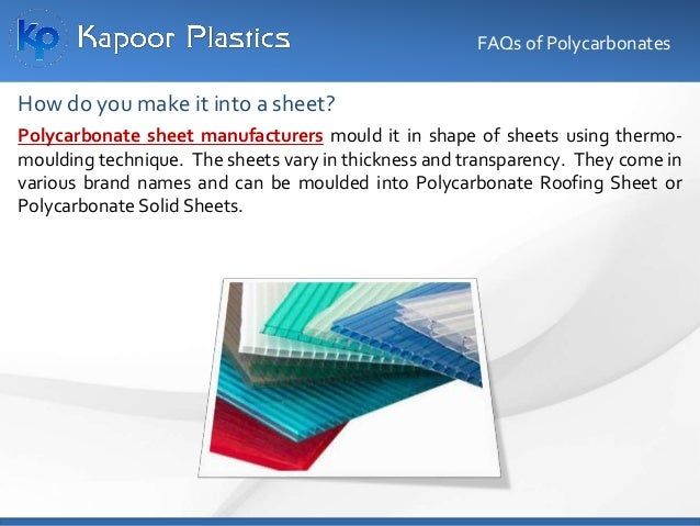 Polycarbonate material is used widely in the Electronics Industry and in the Mobile Industry. In fact most of the popular ...