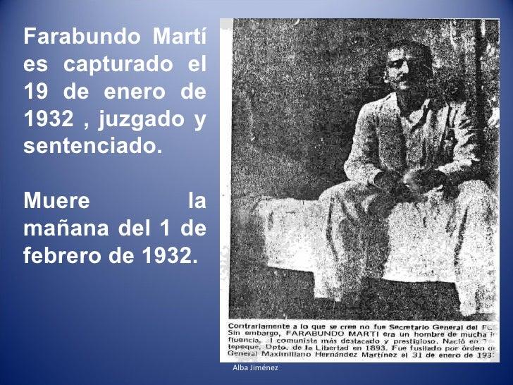 Farabundo Marti A 80 Años De Su Muerte