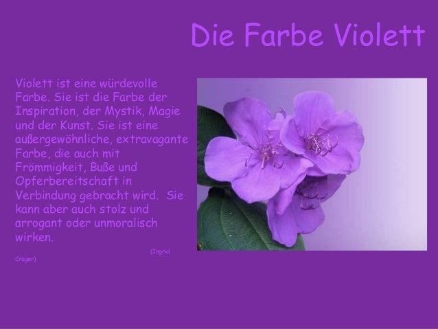 Bedeutung lila farbe Warum assoziiert
