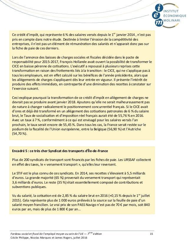 Ce crédit d'impôt, qui représente 6 % des salaires versés depuis le 1er janvier 2014 , n'est pas pris en compte dans notre...