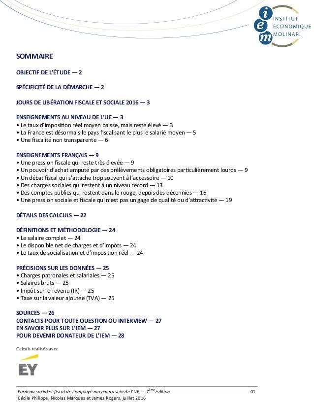 SOMMAIRE OBJECTIFDEL'ÉTUDE—2 SPÉCIFICITÉDELADÉMARCHE—2 JOURSDELIBÉRATIONFISCALEETSOCIALE2016—3 ENSEIGNEM...