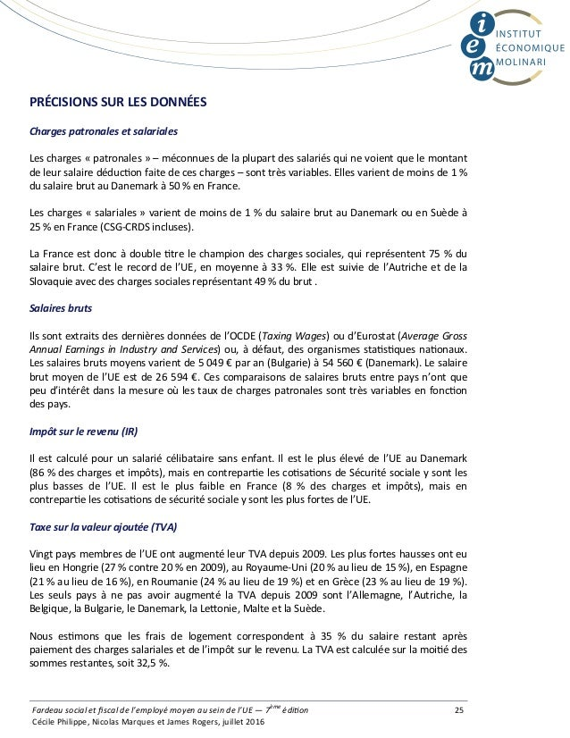 PRÉCISIONSSURLESDONNÉES Charges patronales et salariales Les charges « patronales » – méconnues de la plupart des sala...