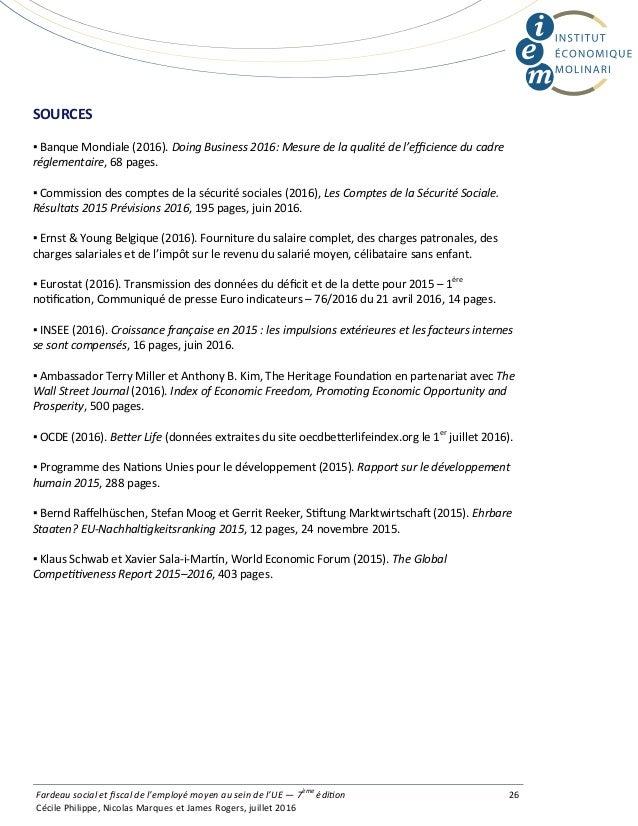 SOURCES ▪ Banque Mondiale (2016). DoingBusiness2016:Mesuredelaqualitédel'efficienceducadre réglementaire, 68 page...