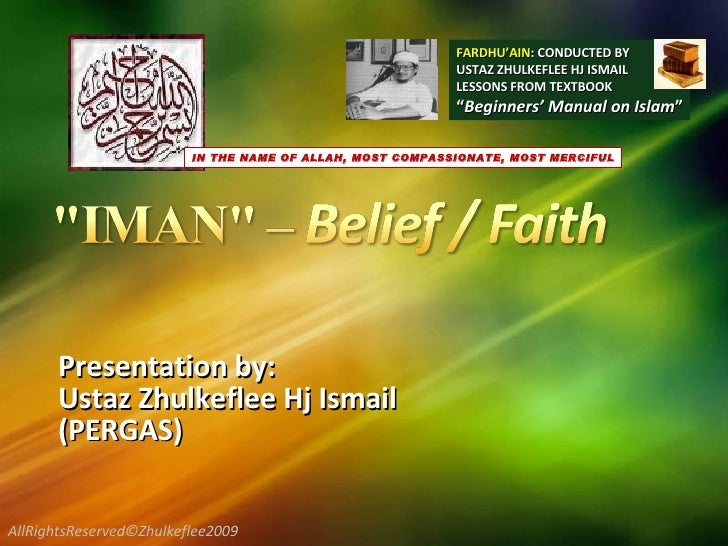 Presentation by:  Ustaz Zhulkeflee Hj Ismail  (PERGAS) FARDHU'AIN : CONDUCTED BY USTAZ ZHULKEFLEE HJ ISMAIL LESSONS FROM T...