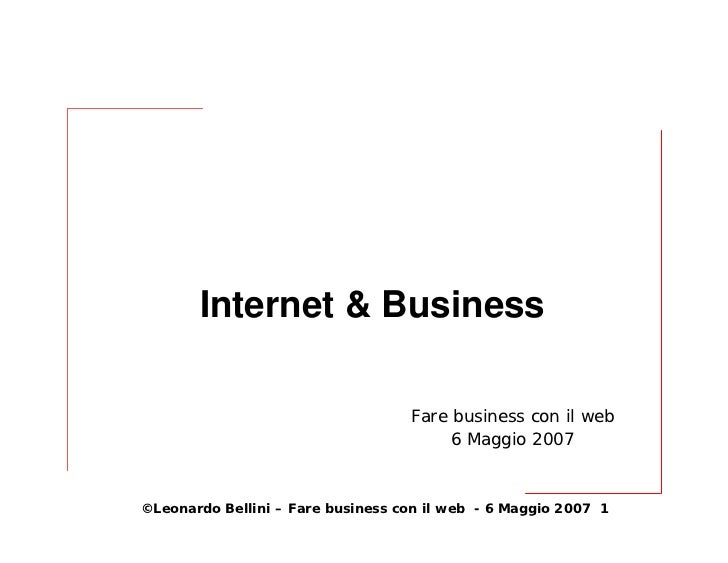 Internet & Business                                     Fare business con il web                                         6...