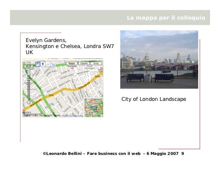 La mappa per il colloquio    Evelyn Gardens, Kensington e Chelsea, Londra SW7 UK                                          ...