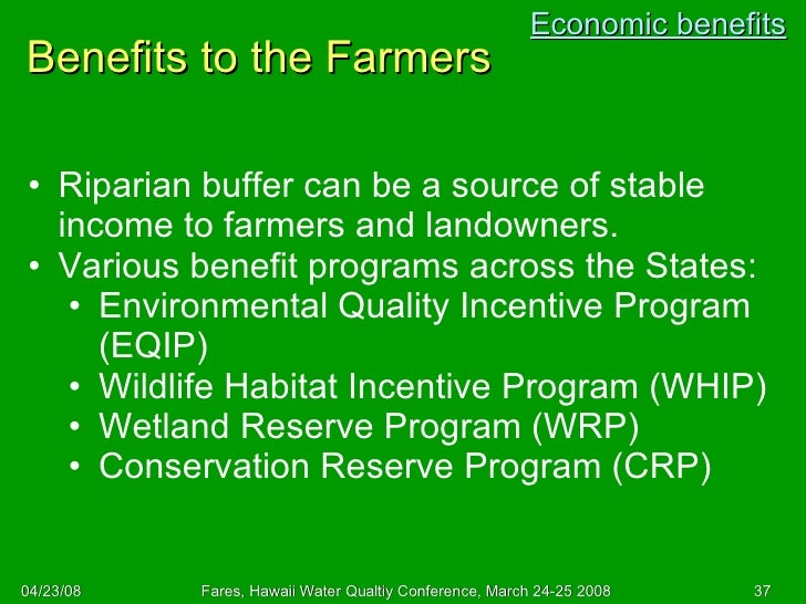 Advantages of retaining forst reserve in