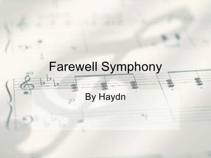 Farewell Symphony By Haydn
