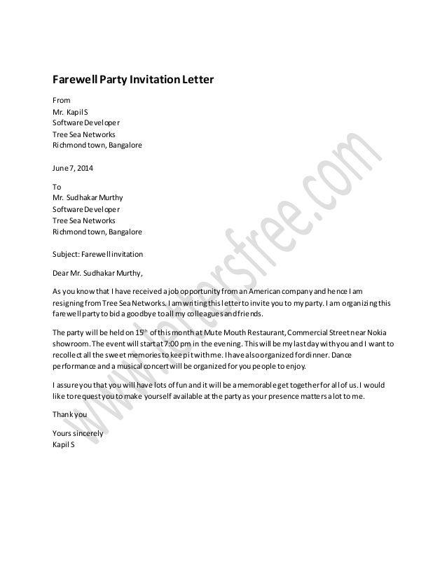 farewell party invitation letter sample 1 638?cb=1434363659 farewell party invitation letter sample,Office Farewell Party Invitation