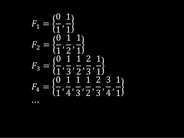 𝐹1 =01,11𝐹2 =01,12,11𝐹3 =01,13,12,23,11𝐹4 =01,14,13,12,23,34,11⋯