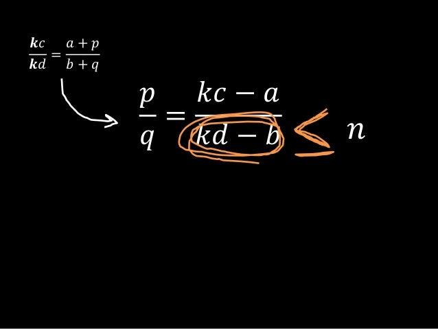 𝑝𝑞=𝑘𝑐 − 𝑎𝑘𝑑 − 𝑏𝒌𝑐𝒌𝑑=𝑎 + 𝑝𝑏 + 𝑞𝑛