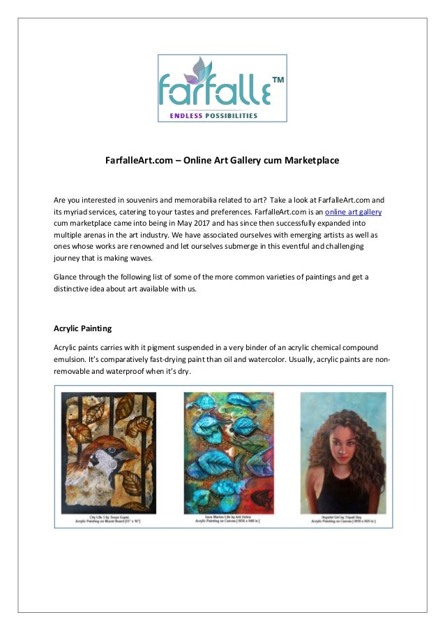 Farfalleart Com Online Art Gallery Cum Marketplace