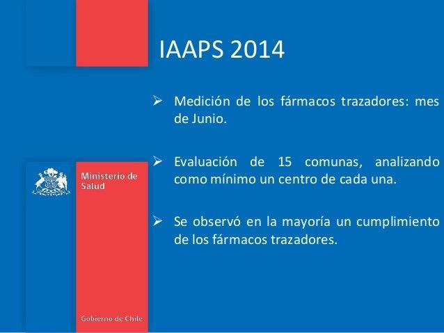 IAAPS 2014  Medición de los fármacos trazadores: mes de Junio.  Evaluación de 15 comunas, analizando como mínimo un cent...
