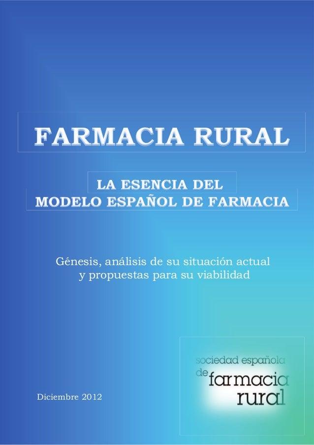 Génesis, análisis de su situación actual      y propuestas para su viabilidadDiciembre 2012
