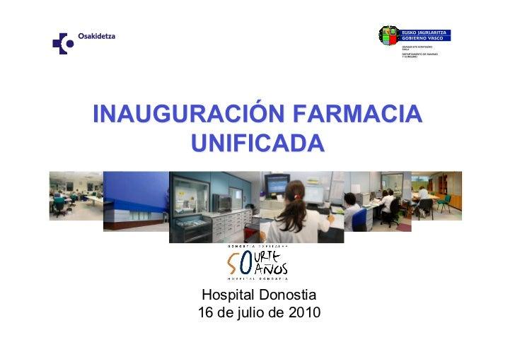 Hospital Donostia 16 de julio de 2010