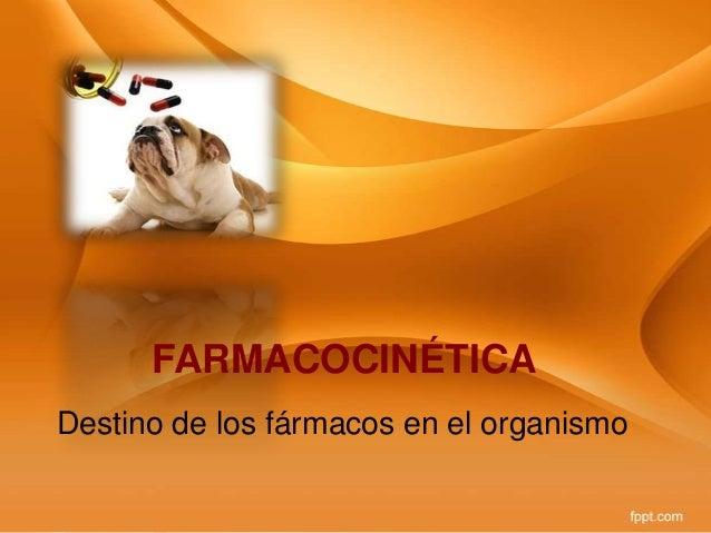 FARMACOCINÉTICA Destino de los fármacos en el organismo