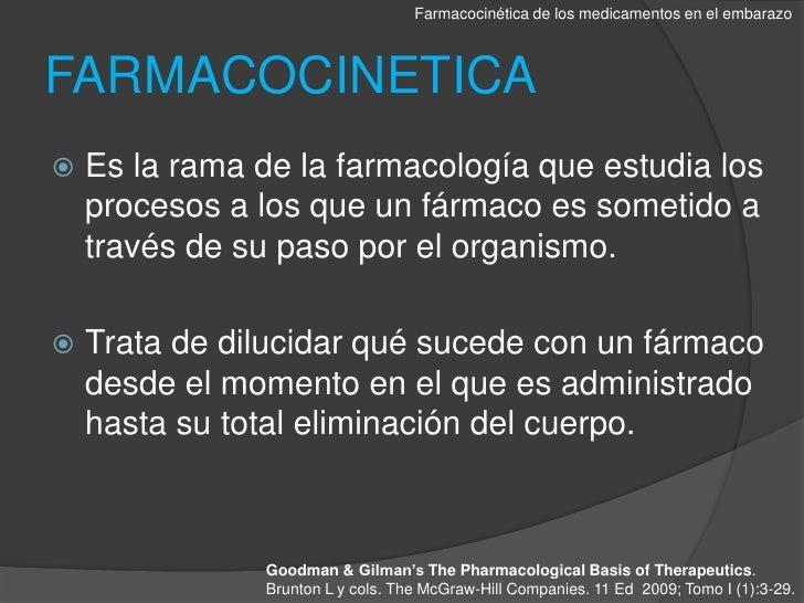 Farmacocinetica de los medicamentos en el embarazo Slide 2