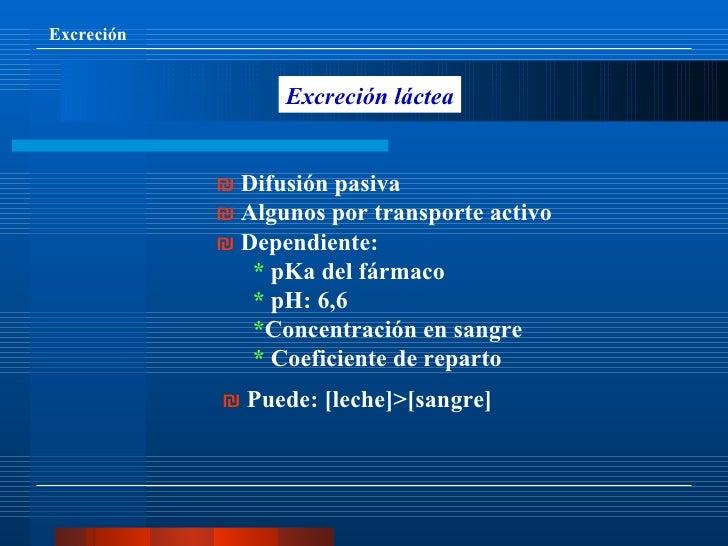 Farmacocinetica excrecion 8