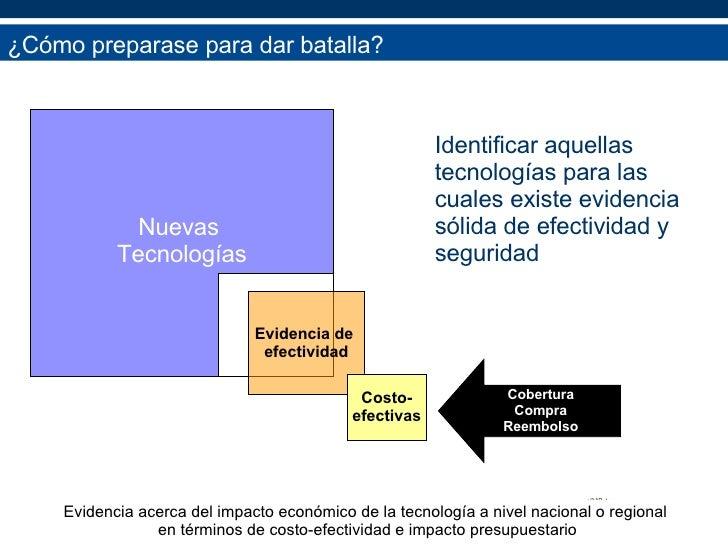 <ul><li>Identificar aquellas tecnologías para las cuales existe evidencia sólida de efectividad y seguridad </li></ul>¿Cóm...