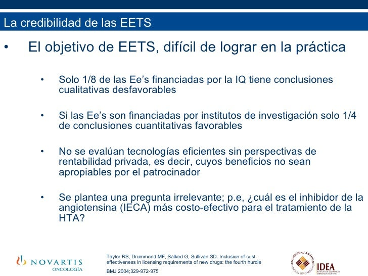 <ul><li>El objetivo de EETS, difícil de lograr en la práctica </li></ul><ul><ul><ul><li>Solo 1/8 de las Ee's financiadas p...