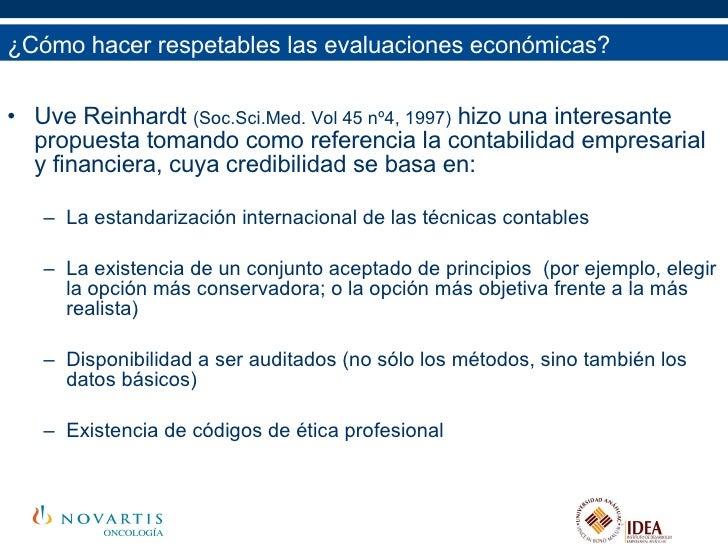 <ul><li>Uve Reinhardt  (Soc.Sci.Med. Vol 45 nº4, 1997)  hizo una interesante propuesta tomando como referencia la contabil...